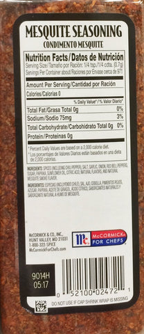 24oz McCormick Grill Mates Mesquite Seasoning, No MSG Added (One Jar)