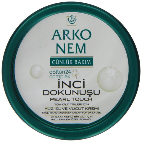 Arko Nem Pearl Touch Face Hand and Body Cream for Daily Use, 100 Gram
