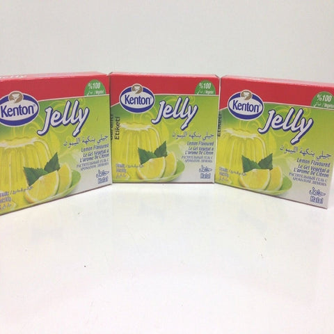 Lemon Flavored Jelly Powder, Halal, Turkish, Kenton, 3 Pack