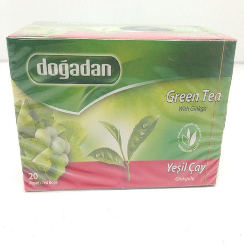 Dogadan Green Tea With Ginkgo, 3 Pack (Each 20 Tea Bags x 3)