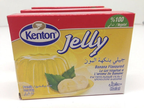 Banana Flavored Jelly Powder, Halal, Turkish, Kenton, 3 Pack