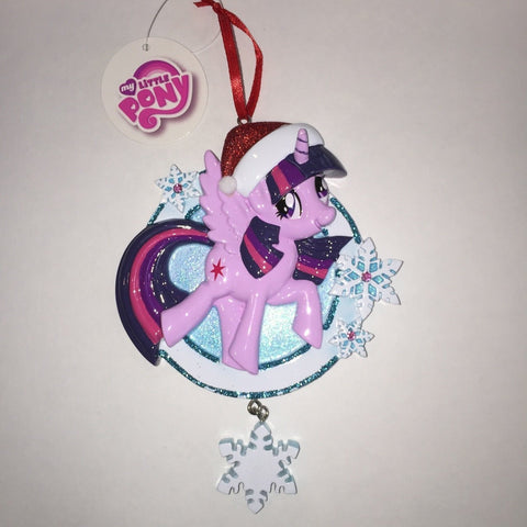 MLP Twilight Sparkle w/Snowflake Personalized Christmas Tree Ornament