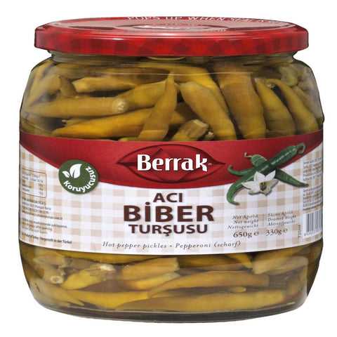 Berrak Biber Tursusu ACI / Pepper Pickles HOT - 650 gr