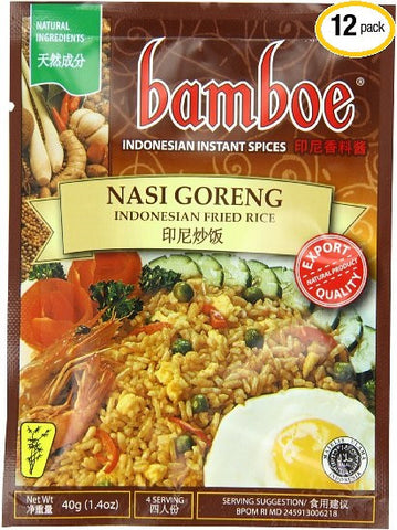 Bamboe Nasi Goreng Fried Rice, 1.2-Ounce (Pack of 12)