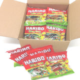 Haribo Gummi Candy, Worms, 80g x 24, Halal, 24 Packs, Solucan