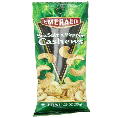 Emerald Cashews, Sea Salt and Pepper, 1.25-Ounce (Pack of 12)