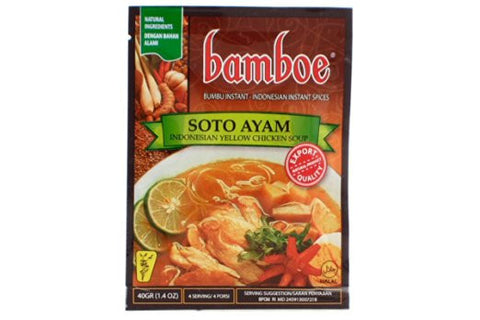 Bamboe Bumbu Soto Ayam (Yellow Chicken Soup Seasoning) - 1.4oz (Pack of 1)
