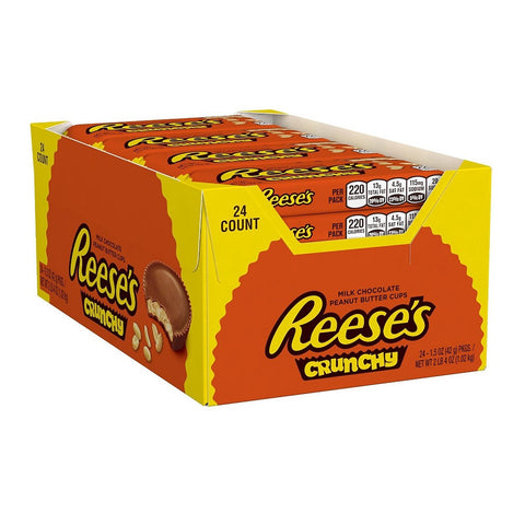 Reese's Peanut Butter Cup Crunchy, 1.5 Ounce (Pack of 24)