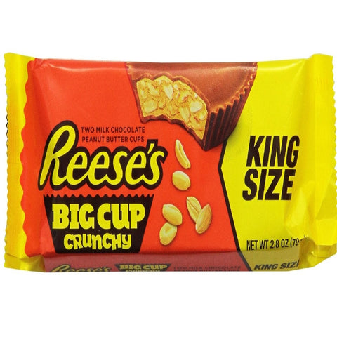 Reese's Peanut Butter Big Cup Crunchy, King Size, 2.8 Ounce (Pack of 16)