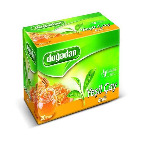 Dogadan Green Tea with Honey, 3 Pack (Each 20 Tea Bags x 3)