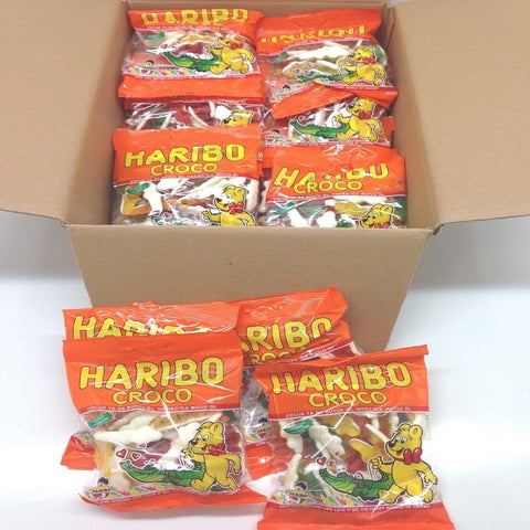 Haribo Gummi Candy, Croco, 160g x 30, Halal, 30 Packs