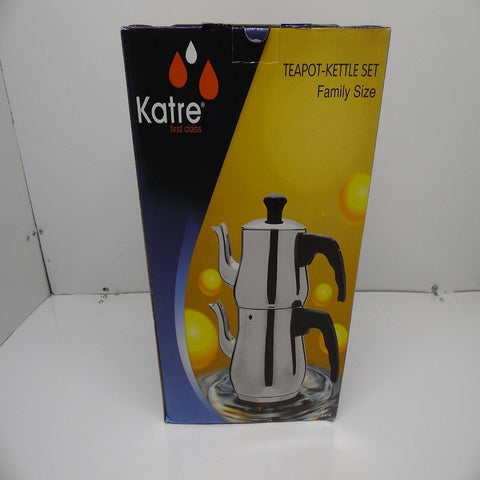 Katre Family Size Tea Pot Set, Tea Kettle, Turkish