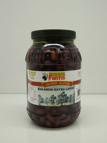 Fantis Greek Kalamon Extra Large Olives 4 Lb 7 Oz - 2 Kg