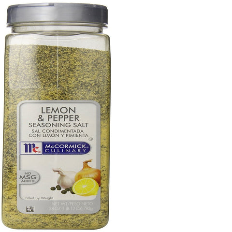 Mccormick Seasoning Salt with No MSG, Lemon and Pepper, 28-Ounce