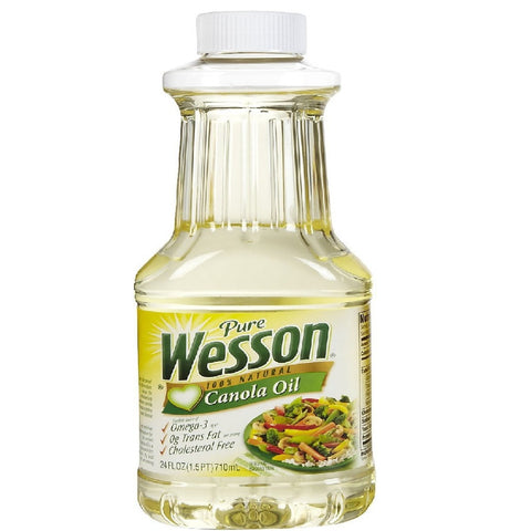 Pure Wesson 100% Natural Canola Oil 24 oz