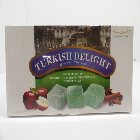 Hacizade Turkish Delight Finest Cinnamon Cooked w Apple Pcs In Delight 13.22 oz