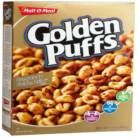 GOLDEN PUFFS CEREAL MALT O MEAL 14 OZ
