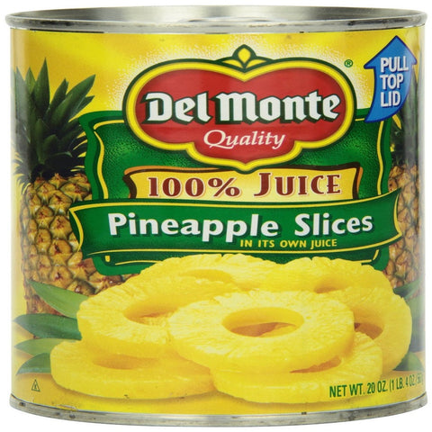 Del Monte Pineapple Sliced, 20-Ounce Packages (Pack of 12)