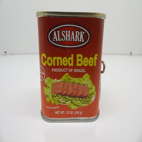 Alshark Corned Beef, 12 oz, Halal, Product of Brazil