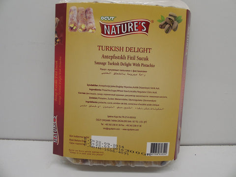 Nature's Turkish Delight W Pistachio, 300 G