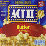 Act II Popcorn Butter, 3 Count (Pack of 12)