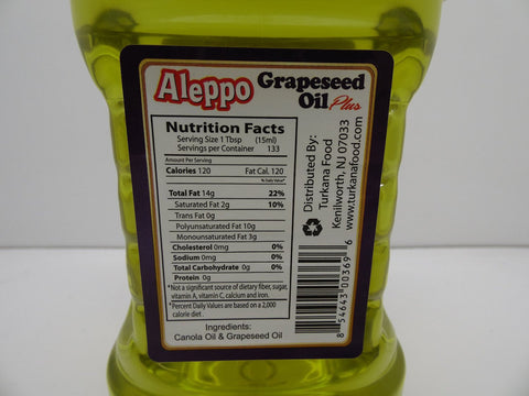 Aleppo Blend of Canola & Grapeseed Oil 2L
