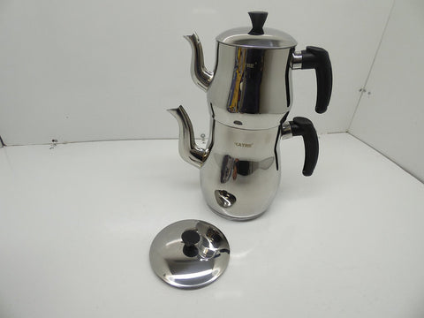 Katre Medium Size Tea Pot Set, Tea Kettle, Turkish
