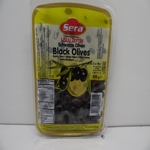 Sera Black Olives 400 G, Turkish Olives