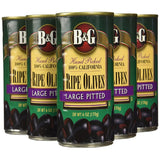 B&G Ripe Olives, Large Pitted, 6 Ounce (Pack of 12)
