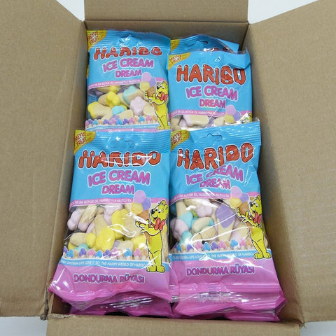Haribo Gummi Candy,Ice Cream Dream, 80g x 24, Halal, 24 Packs