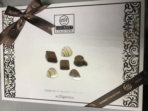 Elit Gurme Cikolata - Gourmet Chocolate Praline Selection 252 Gr ( 8.8 Oz )