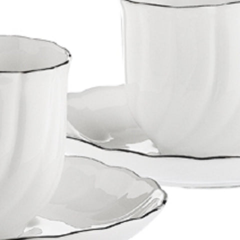 Gural Porselen Kahve Fincani Takimi 6 Li Sade - Turkish Coffee Plain Set Of 6
