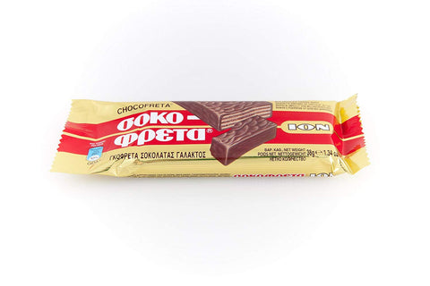 Ion Chocofreta Sutlu Cikolatali Gofret - Milk Chocolate Wafer 38 Gr ( 1.3 Oz )