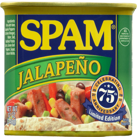 Spam, Jalepeno, 12oz Can (Pack of 6)