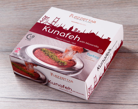 Lezzettar Sade Peynirli Kunefe 2'Li Paket - Plain Kunefa With Cheese 2 in A Box 266 Gr ( 9.3 Oz )