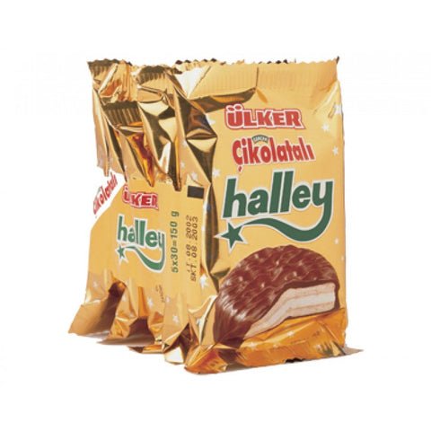 Ulker Halley / Chocolate Cookies W/Marshmallow - 5 pack / 150 gr