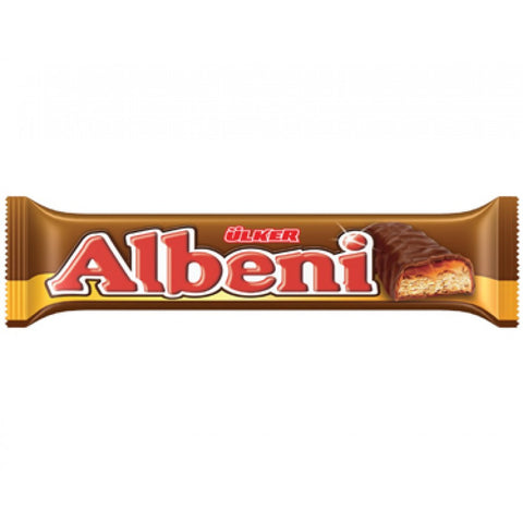 Ulker Albeni Cikolata - Milk Chocolate Coated Bar With Caramel and Biscuit 40 Gr ( 1.4 Oz )