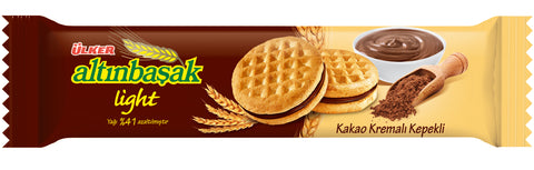 Ulker Altinbasak Light Kakao Kremali Kepekli Biskuvi - Light Cocoa Cream Wheat Cookies 50 Gr ( 1.8 Oz )