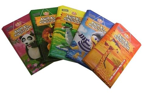 Animal Kingdom Milk Chocolate with Sticker 15 g 5 Pack