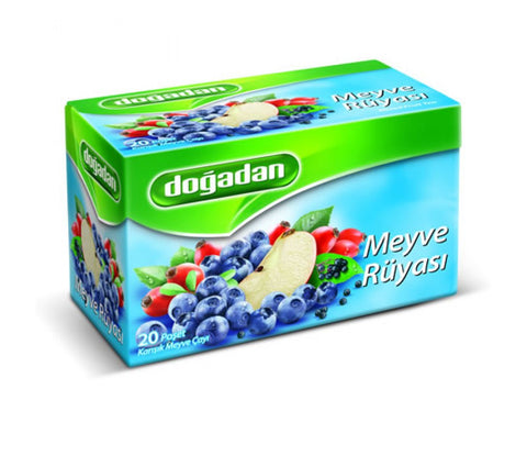 Dogadan Meyve Ruyasi Yaban Mersinli - Fruit Dream Mixed Fruit Tea With Blueberry 40 Gr ( 1.4 Oz )