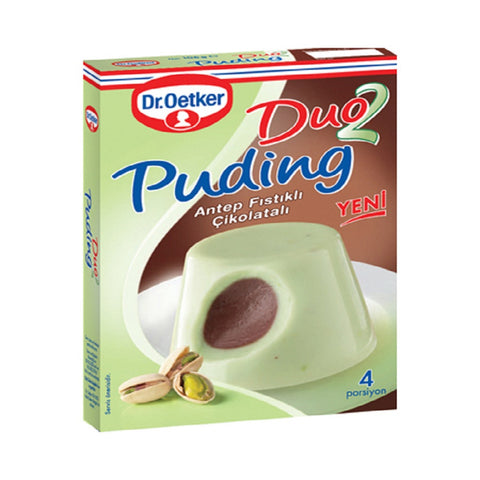 Dr.Oetker Duo2 Cikolatali & A.Fistikli Puding / Duo Puding W/ Chocolate & Pistachio - 108 gr