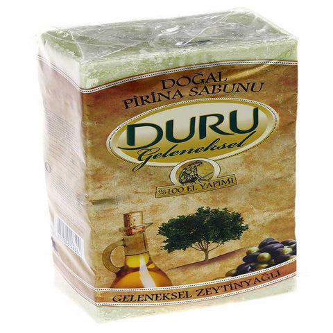 Duru Dogal Pirina Geleneksel Zeytinyagli Sabun / Traditional Olive Oil Bar Soap - 5 pcs / 900 gr