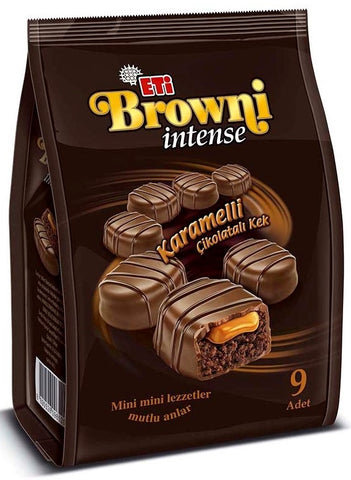 Eti Browni Intense Cikolatali Kek - Browni Intense Chocolate Cake 9 Pcs 144 Gr ( 5 Oz )