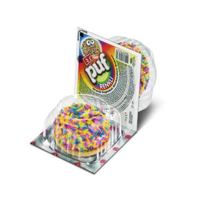 Eti Puf Renkli Biskuvi - Marshmallow Biscuit With Mix Colors 18 Gr ( 0.04 Oz ) X 48