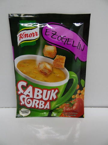 Knorr Cup Lentil  w Vegetable Soup / Ezogelin Cabuk Corba Pack 24 X 22 Gr - 77 Oz