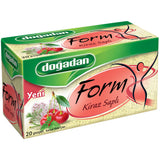 Dogadan Form Cayi Kiraz Sapli 20'Li - Form Tea With Cherry Stalks 20 Tea Bags 40 Gr ( 1.4 Oz )