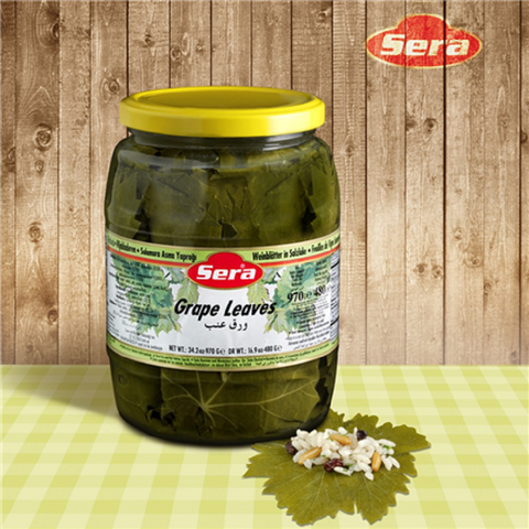 Sera Salamura Yaprak (ARMUTLU Turu )/ Grape Leaves ( Armutlu Style)- 970 gr Jar