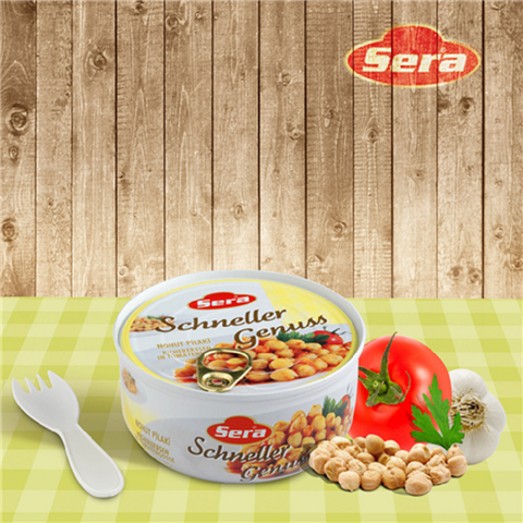 Sera Nohut Pilaki / Cooked Chick Peas in Sauce (Ready Food) - 320 gr