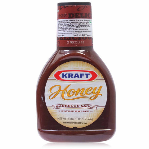 Kraft, Honey Barbecue Sauce, 17.5oz Bottle (Pack of 3)