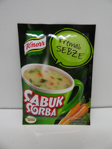 Knorr Cup Vegetable Soup W.cream / Kremali Sebze Cabuk Corba Pack of 24 X 18 Gr - 63 Oz
